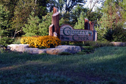 Country Creek Subdivision Welcome Sign